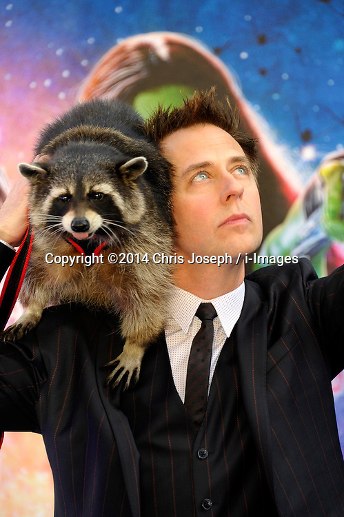 Image ©Licensed to i-Images Picture Agency. 24/07/2014. London, United Kingdom. James Gunn attends the UK Premiere of 'Guardians of the Galaxy' at Empire Leicester Square. Picture by Chris Joseph / i-Images