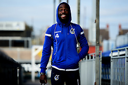 Abu Ogogo of Bristol Rovers arrives at Memorial Stadium prior to kick off - Mandatory by-line: Ryan Hiscott/JMP - 22/10/2019 - FOOTBALL - Memorial Stadium - Bristol, England - Bristol Rovers v Bolton Wanderers - Sky Bet League One