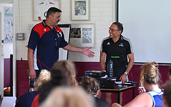 Bristol Ladies head coach Kris de Scossa introduces guest speaker Dr Dave Alred - Mandatory by-line: Paul Knight/JMP - 29/07/2017 - RUGBY - Bristol Ladies Rugby pre-season training