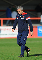 Cheltenham Town's Assistant Manager Russell Milton shows a dejected figure after the final whistle. - Photo mandatory by-line: Nizaam Jones - Mobile: 07966 386802 - 06/04/2015 - SPORT - Football - Cheltenham - Whaddon Road - Cheltenham Town v Stevenage - Sky Bet League Two