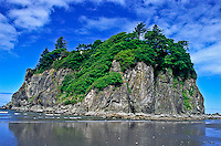 Abbey Island at Ruby Beach during low tide.  Olympic National Park, Washington.