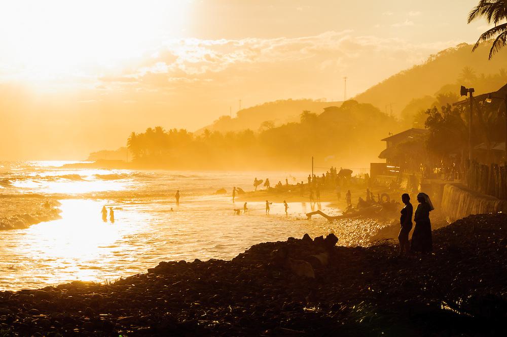 Beach life in El Tunco, El Salvador