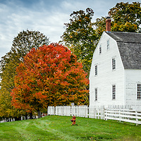 Vibrant foliage greets visitors to Canterbury Shaker Village, a National Historic Landmark located in Canterbury, NH.<br />