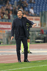October 14, 2017 - Rome, Italy - Eusebio Di Francesco during the Italian Serie A football match between A.S. Roma and S.S.C. Napoli at the Olympic Stadium in Rome, on october 14, 2017. (Credit Image: © Silvia Lor/Pacific Press via ZUMA Wire)