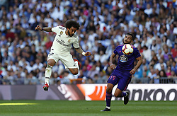March 16, 2019 - Madrid, Madrid, Spain - Real Madrid CF's Marcelo Vieira and RC Celta Vigo's Sofiane Boufal are seen in action during the Spanish La Liga match round 28 between Real Madrid and RC Celta Vigo at the Santiago Bernabeu Stadium in Madrid. (Credit Image: © Manu Reino/SOPA Images via ZUMA Wire)