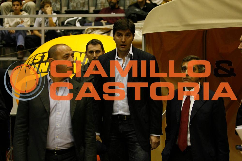 DESCRIZIONE : Belgrado Eurolega 2007-08 Partizan Igokea Belgrado Lottomatica Virtus Roma <br /> GIOCATORE : Dejan Bodiroga Claudio Toti <br /> SQUADRA : Lottomatica Virtus Roma <br /> EVENTO : Eurolega 2007-2008 <br /> GARA : Partizan Igokea Belgrado Lottomatica Virtus Roma <br /> DATA : 21/11/2007 <br /> CATEGORIA : Ritratto <br /> SPORT : Pallacanestro <br /> AUTORE : Agenzia Ciamillo-Castoria