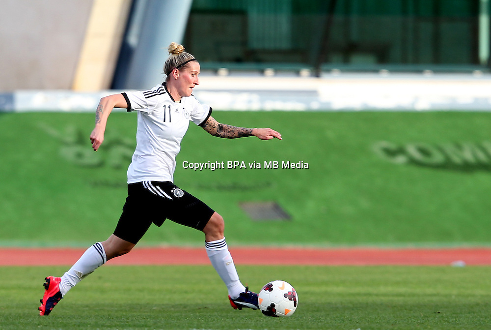 Fifa Womans World Cup Canada 2015 - Preview //<br /> Algarve Cup 2015 Tournament ( Vila Real San Antonio Sport Complex - Portugal ) - <br /> Germany vs Sweden 2-4   - Anja Mittag of Germany