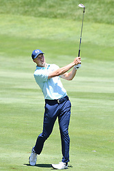 June 24, 2017 - Cromwell, Connecticut, U.S - Jordan Spieth approaches the first green during the third round of the Travelers Championship at TPC River Highlands in Cromwell, Connecticut. (Credit Image: © Brian Ciancio via ZUMA Wire)