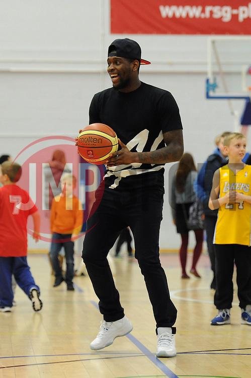 Bristol City's Jay Emmanuel Thomas - Photo mandatory by-line: Dougie Allward/JMP - Mobile: 07966 386802 - 13/02/2015 - SPORT - Basketball - Bristol - SGS Wise Campus - Bristol Flyers v Surrey United - British Basketball League