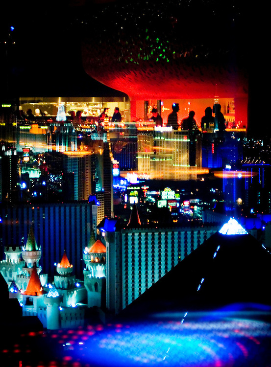 View of the strip in Las Vegas from the Mix Lounge at TheHotel at Mandalay Bay...Photographer Chris Maluszynski /MOMENT