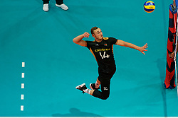 23-09-2019 NED: EC Volleyball 2019 Poland - Germany, Apeldoorn<br /> 1/4 final EC Volleyball Poland win 3-0 / Moritz Karlitzek #14 of Germany
