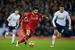 LIVERPOOL, ENGLAND - Sunday, February 4, 2018: Liverpool's Mohamed Salah during the FA Premier League match between Liverpool FC and Tottenham Hotspur FC at Anfield. (Pic by David Rawcliffe/Propaganda)