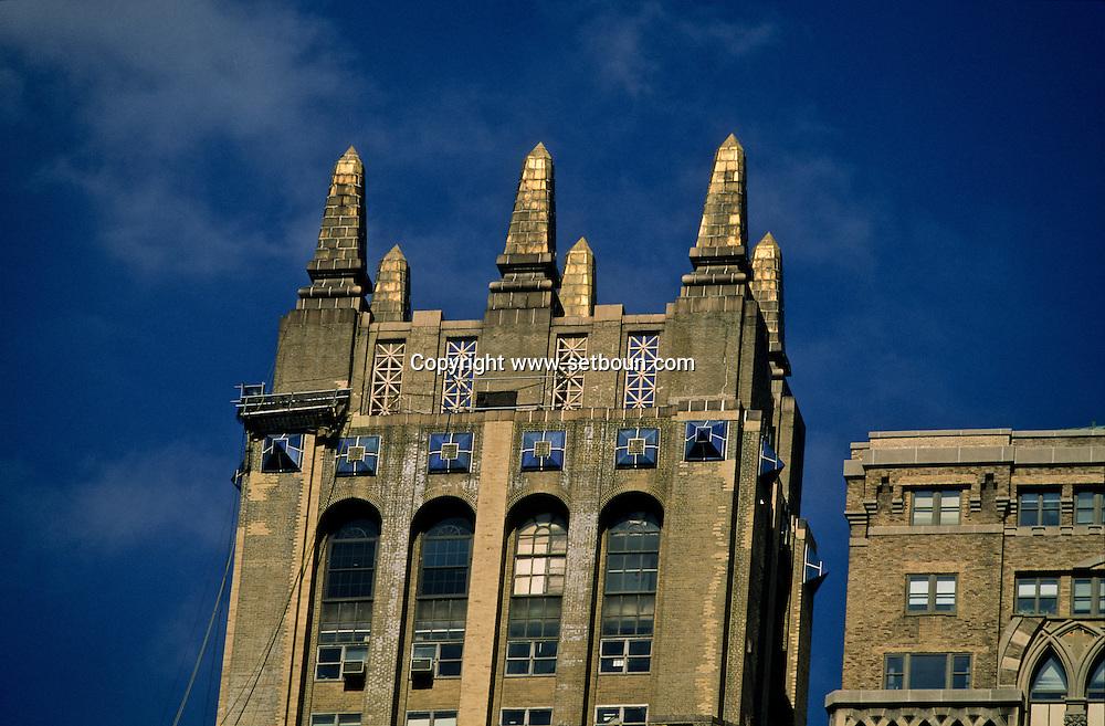 New York  United States  old building /  Manhattan midtown vue depuis  New York  Etats unis