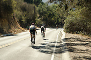 Cyclists on Old Topanga Canyon Road