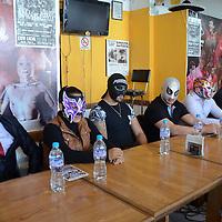 Toluca, México (Septiembre 07, 2016).- Luchadores profesionales anunciaron en conferencia de prensa la Expo Lucha 2016, que se realizara el domingo 11 de septiembre en el Deportivo Agustín Millán.  Agencia MVT / José Hernández.
