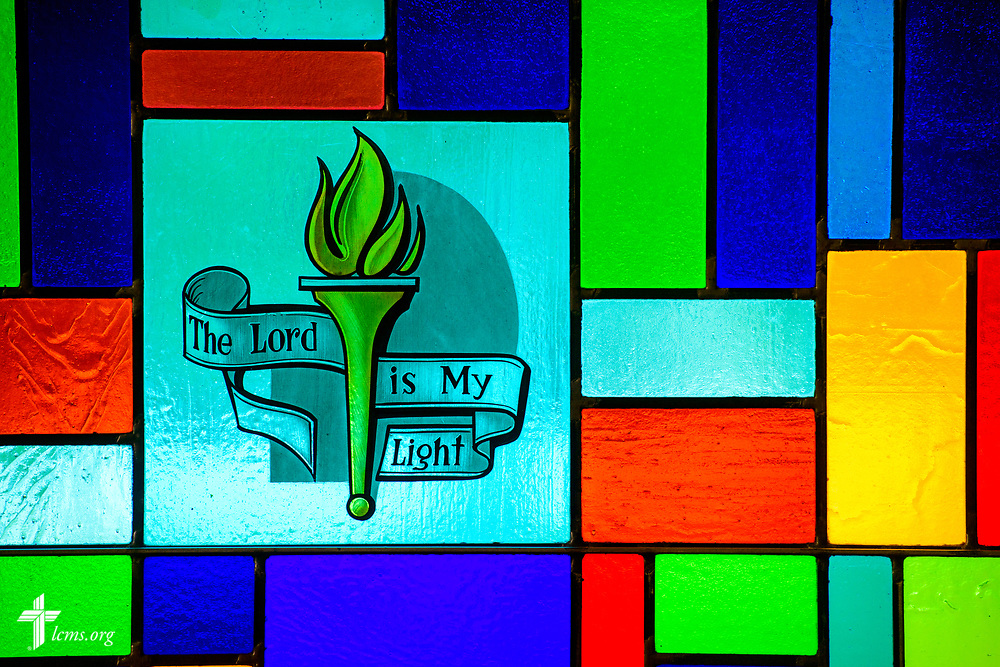 Stained glass at Zion Lutheran Church, Worms, Neb., on Saturday, Sept. 23, 2017. LCMS Communications/Erik M. Lunsford