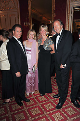 Left to right, VISCOUNT & VISCOUNTESS LINLEY and LORD & LADY BRUCE DUNDAS at a dinner hosted by HRH Prince Robert of Luxembourg in celebration of the 75th anniversary of the acquisition of Chateau Haut-Brion by his great-grandfather Clarence Dillon held at Lancaster House, London on 10th June 2010.