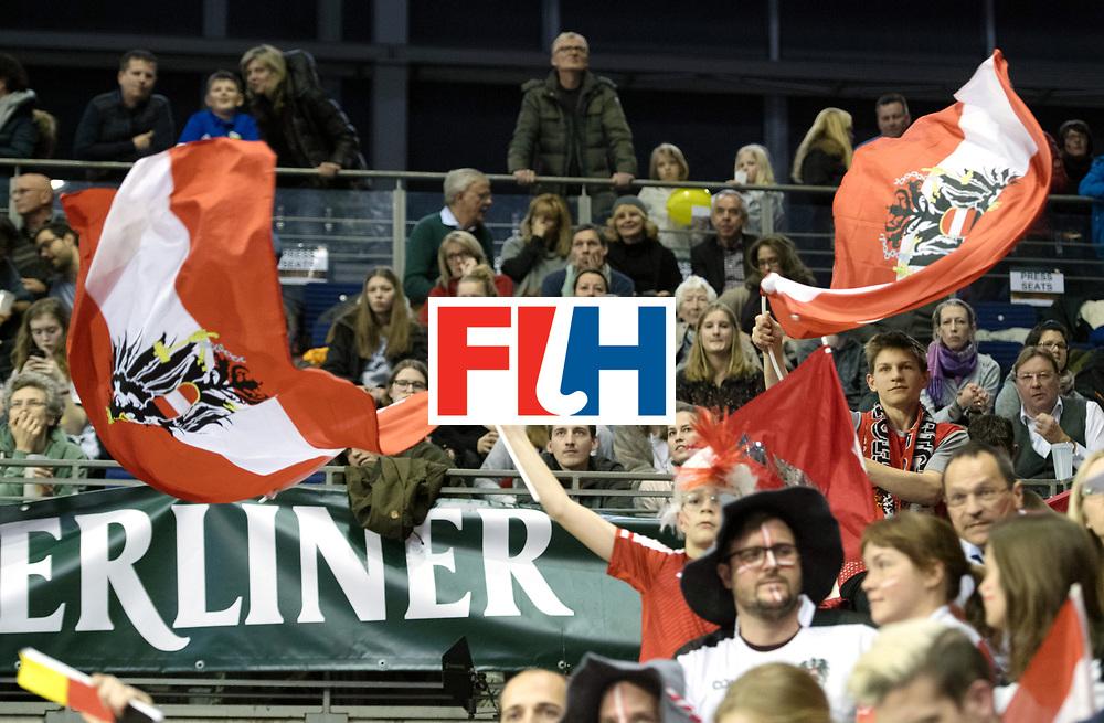 BERLIN - Indoor Hockey World Cup<br /> SF2 Australia - Austria<br /> foto: Fans<br /> WORLDSPORTPICS COPYRIGHT FRANK UIJLENBROEK