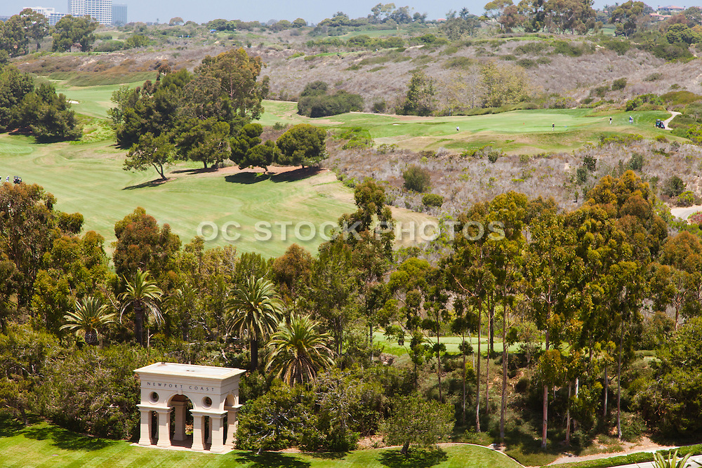 Aerial Stock Photo of Newport Coast California