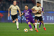 PERTH, AUSTRALIA - JULY 13: Perth Glory forward Bruno Fornaroli (10) battles Manchester United midfielder Jesse Lingard (14) for the ball during the International soccer match between Manchester United and Perth Glory on July 13, 2019 at Optus Stadium in Perth, Australia. (Photo by Speed Media/Icon Sportswire)