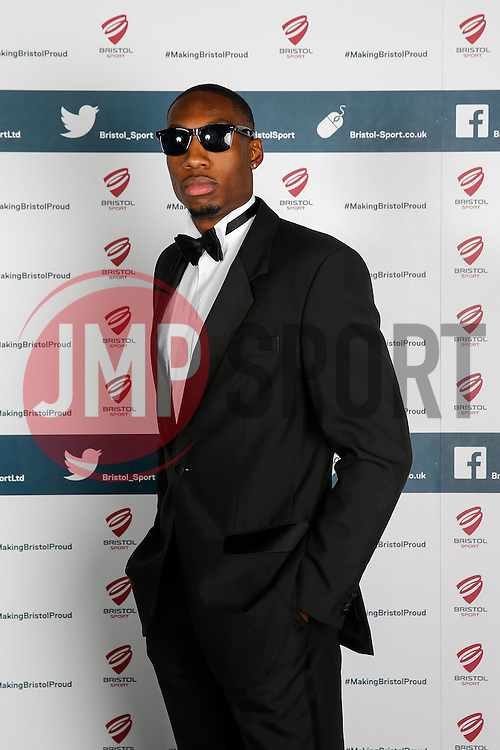 Tyrone Lee of Bristol Flyers attends Bristol Sport's Annual Gala Dinner at Ashton Gate Stadium - Mandatory byline: Rogan Thomson/JMP - 08/12/2015 - SPORT - Ashton Gate Stadium - Bristol, England.