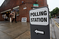 UK ENGLAND LONDON 23JUN16 - Voters arrive at the Wynford Road polling station in Islington, London.<br /> <br /> jre/Photo by Jiri Rezac<br /> <br /> © Jiri Rezac 2016
