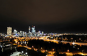 Image shot from Kings Park over looking the City of Perth at night.