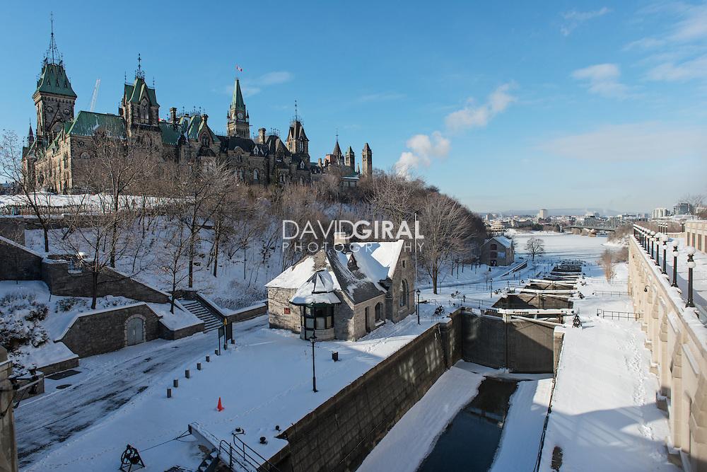 Ottawa Locks and East Block Building - Parliament Hill Ottawa