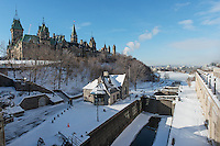 Ottawa Locks and East Block Building - Parliament Hill Ottawa