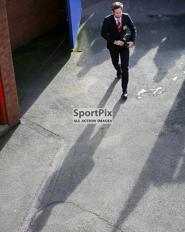 Daley Blind arrives at Crystal Palace vs Manchester United on Saturday the 31st October 2015.
