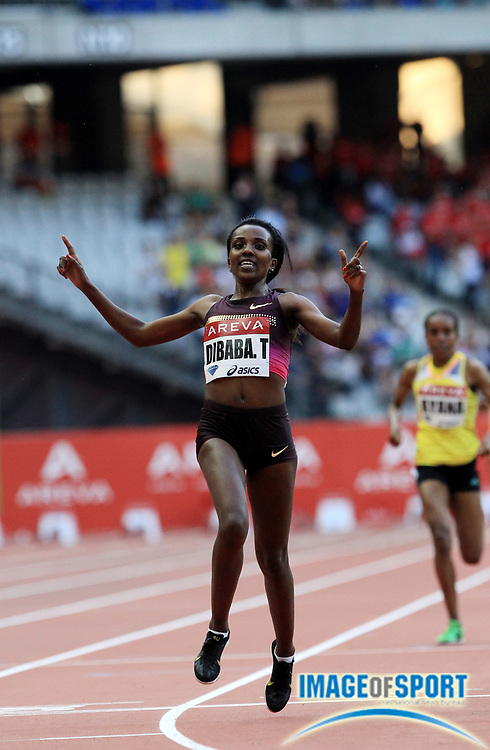 Jul 6, 2013; Paris Saint-Denis, FRANCE; Tirunesh Dibaba (ETH) wins the womens 5,000m in the 2013 Meeting Areva at Stade de France. Photo by Jiro Mochizuki