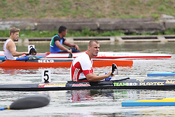 08.08.2014, Moskau, RUS, ICF, Kanu WM 2014, Tag 2, im Bild Tom Kierey (Berlin) belegt in Moskau bei der WM KI Herren LTA den vierten Platz // durin day two of 2014 ICF Canoe Sprint World Championships in Moskau, Russia on 2014/08/08. EXPA Pictures © 2014, PhotoCredit: EXPA/ Eibner-Pressefoto/ Freise<br /> <br /> *****ATTENTION - OUT of GER*****