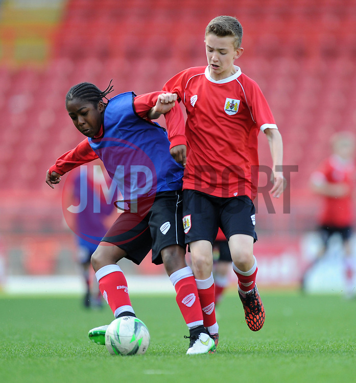 Players from Bristol City Academy play at Ashton Gate - Photo mandatory by-line: Paul Knight/JMP - Mobile: 07966 386802 - 11/05/2015 - SPORT - Football - Bristol - Ashton Gate Stadium - Bristol City Academy