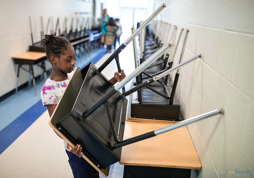 Last day of school Union Hill Elementary <br /> <br /> Photographed, Tuesday, June 12, 2018, in Greensboro, N.C. JERRY WOLFORD and SCOTT MUTHERSBAUGH / Perfecta Visuals