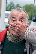 elderly man portrait during Covid 19 crisis France Limoux April 2020