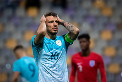Jan Mlakar of Slovenia reacts after missing the goal during friendly Football match between U21 national teams of Slovenia and England, on October 11, 2019 in Ljudski Vrt, Maribor, Slovenia. Photo by Blaž Weindorfer / Sportida