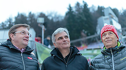 03.01.2016, Bergisel Schanze, Innsbruck, AUT, FIS Weltcup Ski Sprung, Vierschanzentournee, Siegerehrung, im Bild Landeshauptmann Tirol Dr. Günther Platter, Bundeskanzler Werner Faymann, ÖSV Präsident Peter Schroecksnadel // Governor of Tyrol Dr. Günther Platter, Federal Chancellor Werner Faymann, Austrian Ski Federation president Peter Schroecksnadel during Award ceremony of Four Hills Tournament of FIS Ski Jumping World Cup at the Bergisel Schanze, Innsbruck, Austria on 2016/01/03. EXPA Pictures © 2016, PhotoCredit: EXPA/ JFK