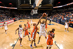 Virginia forward Lyndra Littles (1) shoots against Clemson.  The Virginia Cavaliers women's basketball team defeated the Clemson Tigers 83-71 at the John Paul Jones Arena in Charlottesville, VA on February 21, 2008.