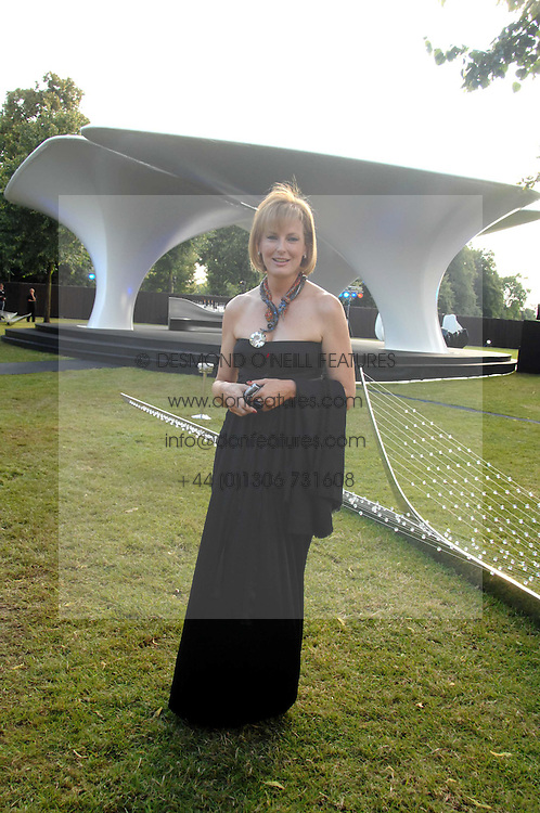 JULIA PEYTON-JONES Director of The Serpentine Gallery at the annual Serpentine Gallery Summer Party in association with Swarovski held at the gallery, Kensington Gardens, London on 11th July 2007.<br />