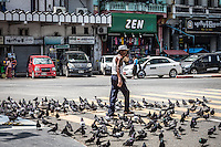 On the streets of Yangon around the Sule Pagoda.
