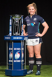 Hurlingham Club, London, January 27th 2016. Scotland Women's Captain Lisa Martin at the launch of the RBS Six Nations Rugby Tornament. ///FOR LICENCING CONTACT: paul@pauldaveycreative.co.uk TEL:+44 (0) 7966 016 296 or +44 (0) 20 8969 6875. ©2015 Paul R Davey. All rights reserved.