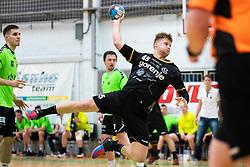 Miha Kavcic of RK Gorenje Velenje during handball match between RK Gorenje Velenje and MRK Krka in Final of Slovenian Men Handball Cup 2018/19, on Maj 12, 2019 in Novo Mesto, Slovenia. Photo by Grega Valancic / Sportida