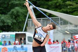 06/08/2017; Clinquart, Simon, F46, BEL at 2017 World Para Athletics Junior Championships, Nottwil, Switzerland