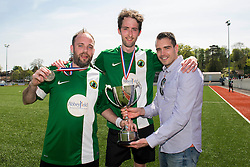 Matthew Long of SWYD United and Matthew Barnes of SWYD United with the trophy - Mandatory by-line: Dougie Allward/JMP - 08/05/2016 - FOOTBALL - Keynsham FC - Bristol, England - BAWA Sports v SWYD United - Presidents cup final