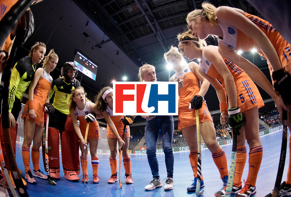 BERLIN - Indoor Hockey World Cup<br /> Women: Netherlands - Switzerland<br /> foto: Marieke Dijkstra.<br /> WORLDSPORTPICS COPYRIGHT FRANK UIJLENBROEK