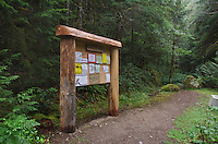 Trailhead signpost, Suiattle River Trail, Glacier Peak Wilderness, Washington