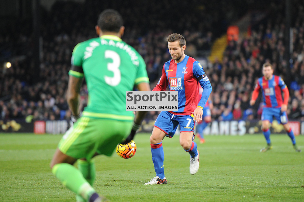 Crystal Palaces Yohan Cabaye in action during Crystal Palaces clash with Sunderland in the Barclays Premier League at Selhurst Park