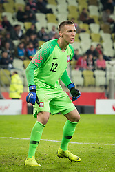 November 15, 2018 - Gdansk, Pomorze, Poland - Lukasz Skorupski (12) during the international friendly soccer match between Poland and Czech Republic at Energa Stadium in Gdansk, Poland on 15 November 2018  (Credit Image: © Mateusz Wlodarczyk/NurPhoto via ZUMA Press)