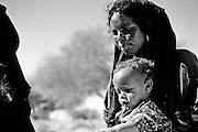 mother with child in the sahel