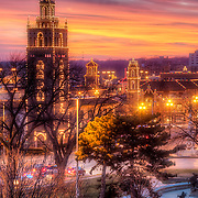 Plaza Lights - Country Club Plaza lit up for the Christmas/holiday season, Kansas City, Missouri.<br />